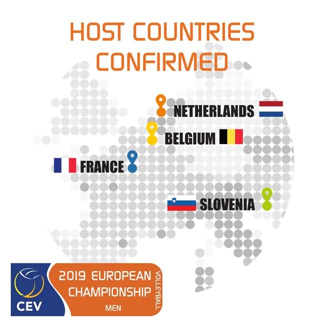 Evropsko prvenstvo 2019 - države gostiteljice